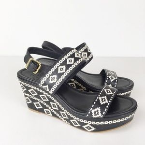 Tory Burch reena Aztec platform wedge sandals